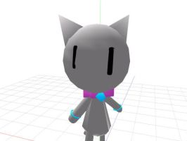 MMD Newcomer: Silver The Cat by KikiTheKitty