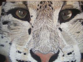 Snow leopard in soft pastel by ljm96