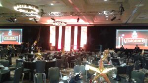 The ballroom is set for the gala by mylesterlucky7