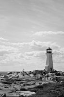 Black White Lighthouse by Mckronic