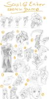 Soul Eater Sketch Dump by red-winged-angel