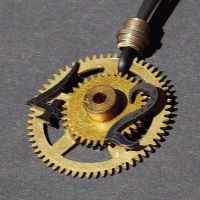 steampunk clock gear pendant by Tanith-Rohe