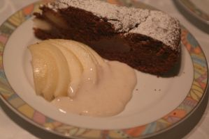 Cake of Pears and Chocolate by Yoite7