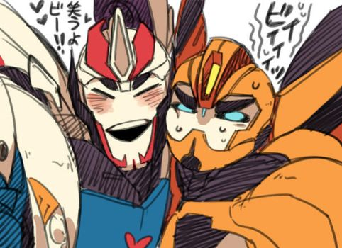 tfp: Smokescreen and Bumblebee by c0ralus
