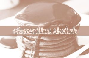 Font Clementine Sketch by LaylaBelen09