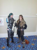 Katsucon 2013 - Dwarf and Fem Shep by LadyduLac