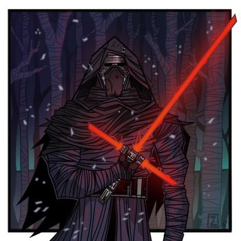 Kylo Ren print by equalizer100