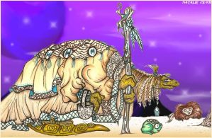 Dark Crystal Mystic and Friendly Monsters by dracodawnstar