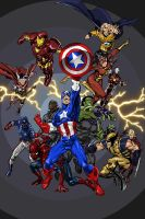 The Avengers by Mnollock