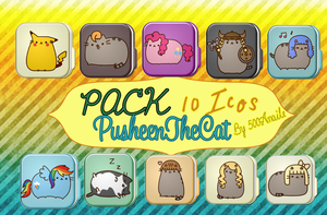 Pack#2 PusheenTheCat By 500Anaile by 500Anaile
