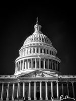 Capitol Building in Infrared II by eprowe
