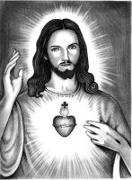 Sacred Heart Of Jesus by r0na7d