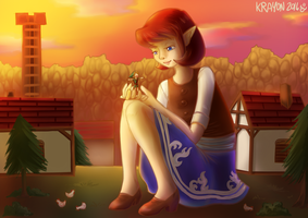 Friendly sunset by Val-Krayon