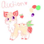 Strawberry auction adopt CLOSED by SerenadingLove