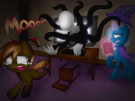 Button mash and trixie gave life to Slenderman by NicoleTheHedgehogXD