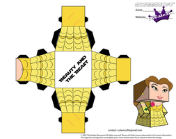 Cubeecraft of Belle from Beauty and the Beast PT2 by SKGaleana