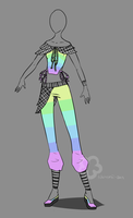 Colorful-Outfit Adopt - sold by Nahemii-san