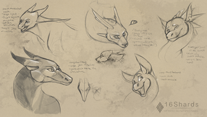 Characer Head Studies by 16Shards