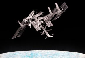 International Space Station and Endeavour Shuttle by Diego0101
