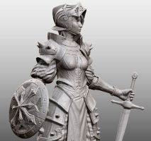 Female Swordsman - CloseUp ZBrush Render by Rhythem02