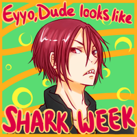 50% off: Eyyo Dude Looks Like Shark Week by Tamakichi