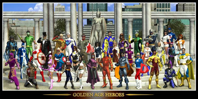 The Golden Age Heroes by Raddar