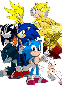 Sonic - Many Faces, Same Cool Blue Dude. by ADHedgehog