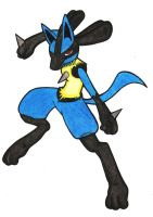 Izlude the Lucario by SkitzOpheliac