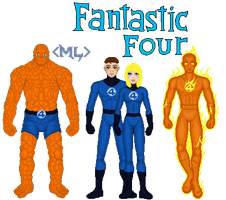 The Fantastic Four by MetalLion1888