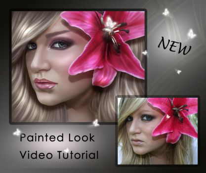 Painted Look Video Tutorial by shiny-shadows-Art