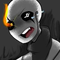 [GlitchTale] Gaster by ClelieTheBlueArcher