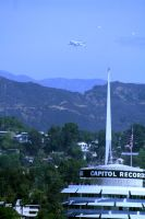 Space Shuttle flies over Capitol Records by Pabloramosart