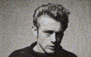 James Dean Photo Mosaic by whendt