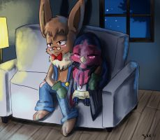 Aboom watching a movie i think by Bread-Crumbz
