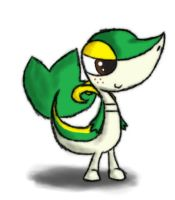Request,Freckles snivy by R-MK
