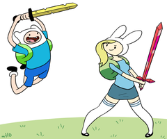 Finn vs. Fiona by empty-10