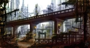 City Concept - Speed Paint by GenoPunk