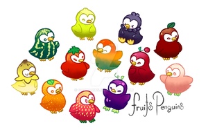 Fruit Penguins by Garkarios