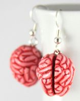 Mmmm Brains Earrings by NeverlandJewelry