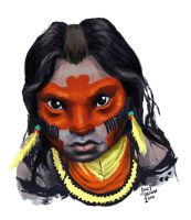 Kayapo child by Ditchmaster