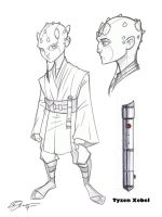 Jedi Padawan Tyzen Concept Art by Hodges-Art