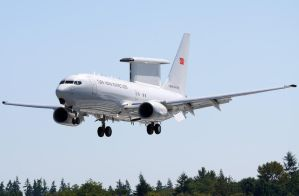 Turkish AF Boeing E-737 Landing by shelbs2