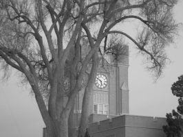 Clocktower Black and White by piperpiper7