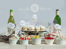 White Party Dessert Table by NSGDesign