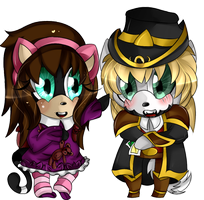 .pc. costplay chibi kimi and max by AshleytheWolff
