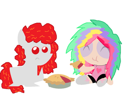 Burnfire and new Puff oc.. by cottoncloudyfilly
