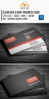 Clean Red Gray Business Card by EgYpToS