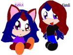 Rachel's twins Tasha and Candi by iluffsSONIC