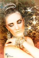 Gold Lady by CecileVCreation