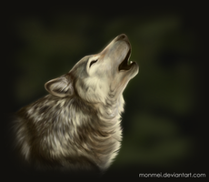 Howling Wolf by Monmei
